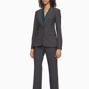 Calvin Klein NWT Charcoal Suit Jacket and Pants Set